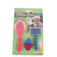 Ware Mfg - Groom-N-Kit For Small Animals - Assorted - 4 Piece