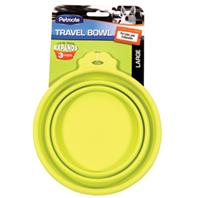 Doskocil - Travel Bowl For Dogs & Cats - Green - Large