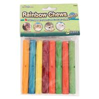 Ware Mfg - Rainbow Chews Rolls Small Animal Chew - Assorted - 6.75 Inch/8 Piece