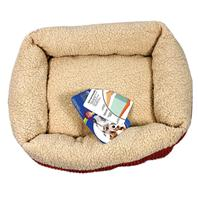 Doskocil-Petmate Beds - Self Warming Lounger Dog Bed - Spice/Creme - 24 X 20 Inch