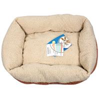 Doskocil-Petmate Beds - Self Warming Lounger Dog Bed - Spice/Creme - 30 X 24 Inch