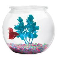 Kollercraft - Aqua Accents Round Plastic Bowl - 2 Gallon