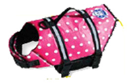 Fido Pet Products - Designer Doggy Life Jacket - Pink Polka Dot - Large
