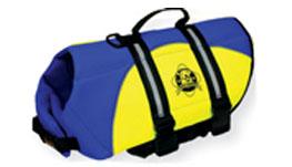 Fido Pet Products - Neoprene Doggy Life Jacket - Blue/Yellow - Large