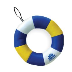 Fido Pet Products - Floating Ring with throwing rope - Blue/Yellow - 10 Inch