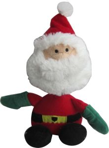 Iconic Pet Christmas - Christmas Father Rope/Squeaky Christmas Dog Toy - 9 Inch