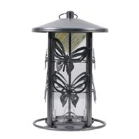 Heath - Butterfly Bird Feeder - Silver - 3 Lb Capacity