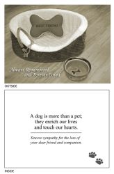 DogTales4You - Dog Sympathy Always Remembered Card #73 - 5x7 Inch
