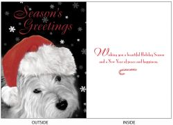 DogTales4You - Westie XMAS Card #72- 5x7 Inch