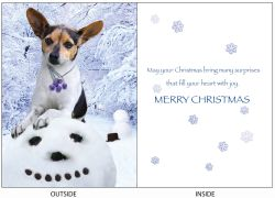 DogTales4You - Boomer Snowman Card #68- 5x7 Inch