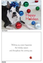DogTales4You - Chance XMAS Balls Card #67 - 5x7 Inch