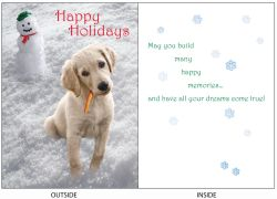 DogTales4You - Bigsbi Snowman Card #65- 5x7 Inch