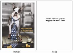 DogTales4You - Chance Briefcase Card-FATHERS DAY-#10 - 5x7 Inch