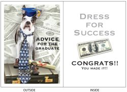 DogTales4You - Chance Briefcase Grad Card-GRADUATION-#11 - 5x7 Inch