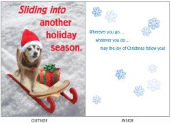 DogTales4You - Able Sled Card #63 - 5x7 Inch
