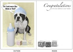 DogTales4You - Max Baby Card-NEW FAMILY MEMBER-#12 - 5x7 Inch