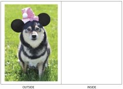 DogTales4You - Kimme Mouse Hat Card #25 - 5x7 Inch
