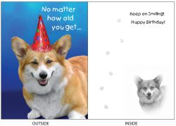 DogTales4You - Shorty Smiles Card-BIRTHDAY-#57 - 5x7 Inch