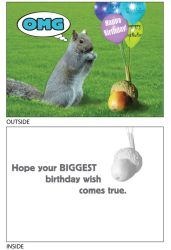 DogTales4You - Hank's Acorn Card-BIRTHDAY-#56 - 5x7 Inch