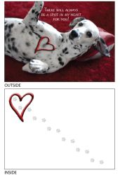 DogTales4You - Daisy Heart Card-ROMANCE-#54 - 5x7 Inch