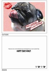 DogTales4You - Zoe Tongue Card-BIRTHDAY-#37 - 5x7 Inch