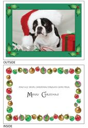DogTales4You - Max XMAS Hat Card #38- 5x7 Inch