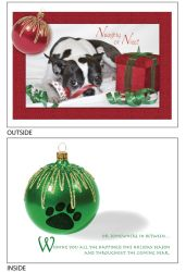DogTales4You - Pablo XMAS Ribbon Card #39 - 5x7 Inch