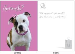 DogTales4You - Josie Shopping Card-BIRTHDAY-#47 - 5x7 Inch