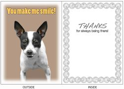 DogTales4You - Candy Smiling Card-FRIENDSHIP-#45 - 5x7 Inch
