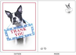 DogTales4You - Max Thank You Card#42 - 5x7 Inch