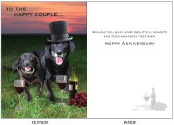 DogTales4You - Benny & Emma Card-ANNIVERSAY-#44 - 5x7 Inch