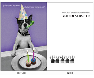 DogTales4You - Pablo Bday Hat1 Card-BIRTHDAY-#3 - 5x7 Inch