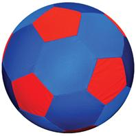 Horsemens Pride - Mega Ball Soccer Ball Cover - Blue/Red - 30 Inch