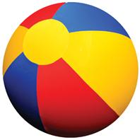Horsemen Pride - Mega Ball Beachball Cover - Multi Colored - 25 Inch