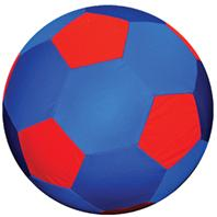 Horsemens Pride - Mega Ball Soccer Ball Cover - Blue/Red - 25 Inch