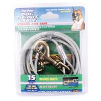 Four Paws - Heavy Tie Out Cable - Silver - 15 Feet