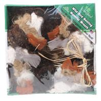 Birdquest/Songbird - Nesting Material Wreath - Multi - 11  Diameter