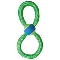 Ethical Dog - Monster Bungee Figure 8 Tennis Tug - Green - 13 Inch