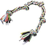 Ethical Dog - Spot Tuggin Tees 5-Knot Rope - Rainbow - 25 Inch