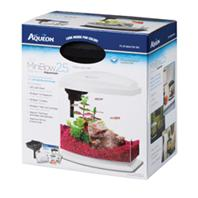 All Glass Aquarium - Aqueon Led Minibow Aquarium Kit - WHITE/CLEAR 2.5 GALLON