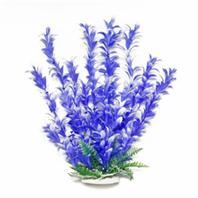 Aquatop Aquatic Supplies - Bacopa-Like Aquarium Plant - Blue/White - 20 Inch