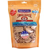 Smokehouse Dog Treats - Usa Prime Chips Dog Treats Resealable Bag - Chkn & Turkey - 8 oz