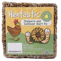Unipet USA - Hentastic Mealworm And Sunflower Heart Pie - 7 OUNCE