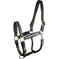 Gatsby Leather - Adjustable Padded Leather Halter - Brown - Oversize