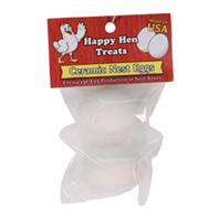 Durvet - Happy Hen Ceramic Nest Eggs - White - 2 Pack