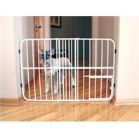 Carlson Pet Products - Expandable Gate With Pet Door - Beige - 26-42 Inch