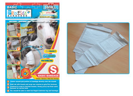 Pawflex - 2 Standard + 2 Wide Basic Bandages - Small - 1 Case