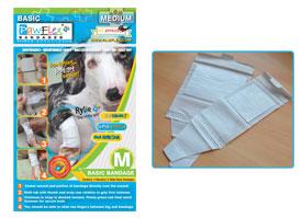 Pawflex - 2 Standard + 2 Wide Basic Bandages - Medium - 1 Case