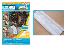 "Pawflex - 3 Protecto/Cover strips each 8"" long Yields up to 11 covers - XXsmall - 1 Case"