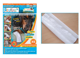 "Pawflex - 3 Protecto/Cover strips each 8"" long Yields up to 11 covers - Xsmall - 1 Case"